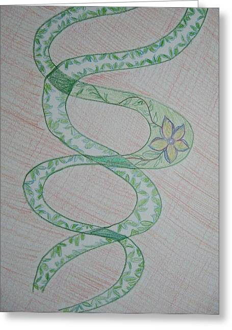 Helix Paintings Greeting Cards - Helix  Greeting Card by Sonali Gangane