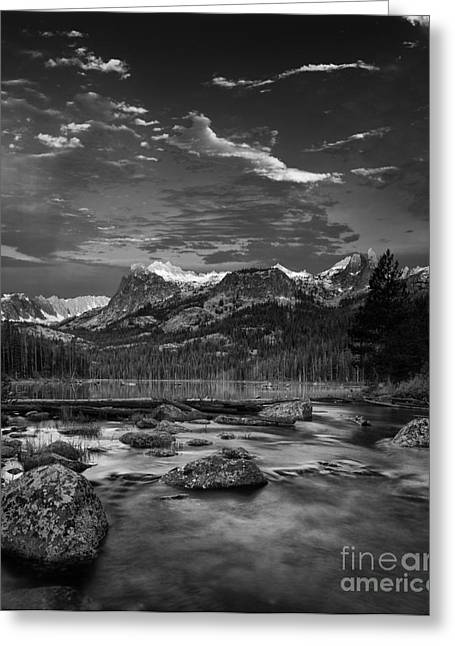 Snow Covered Mountain Greeting Cards - Hell Roaring Lake Greeting Card by Keith Kapple