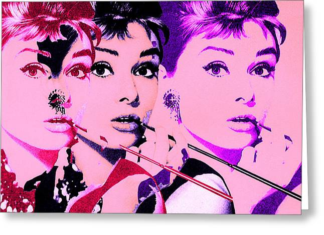 Retro Digital Art Greeting Cards - Hello Audry Greeting Card by Christian Colman