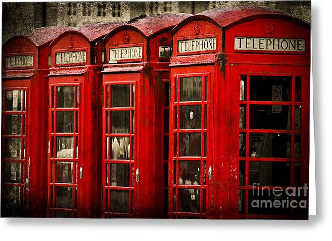 Telephone Booth Greeting Cards - Hello Greeting Card by Yhun Suarez