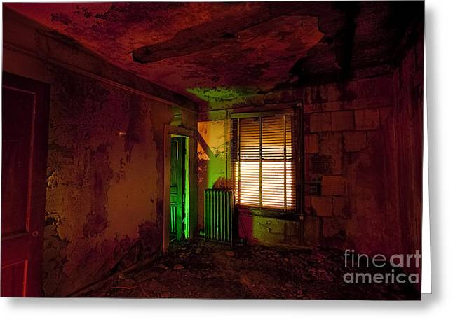 Ghostly Greeting Cards - Hells Room Service Greeting Card by Keith Kapple