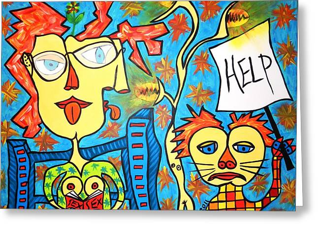 Help Drawings Greeting Cards - Help me Greeting Card by Joao Conde