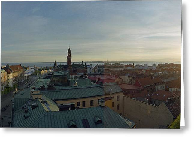 Kattegat Greeting Cards - Helsingborg at Sunset Greeting Card by Jan Faul