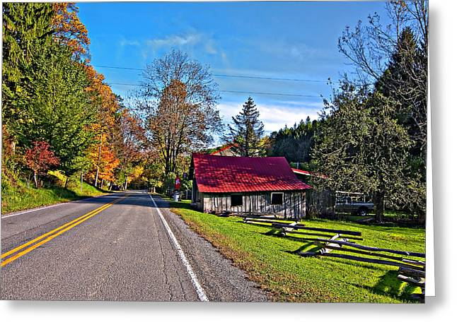 Split Rail Fence Greeting Cards - Helvetia WV Greeting Card by Steve Harrington