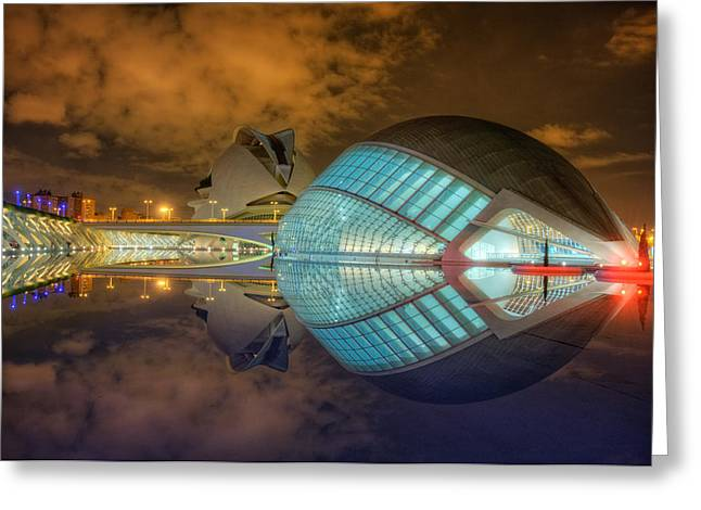Cac Greeting Cards - Hemisferic City of Arts and Sciences Valencia Spain Greeting Card by Marc P