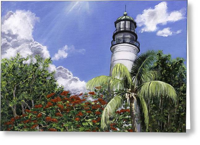 Florida House Greeting Cards - Hemmingways View Greeting Card by Lisa Reinhardt