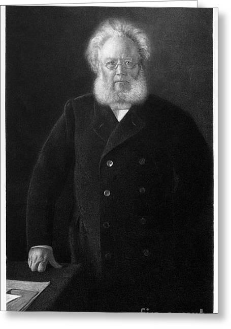 Nils Greeting Cards - Henerik Ibsen (1828-1906) Greeting Card by Granger