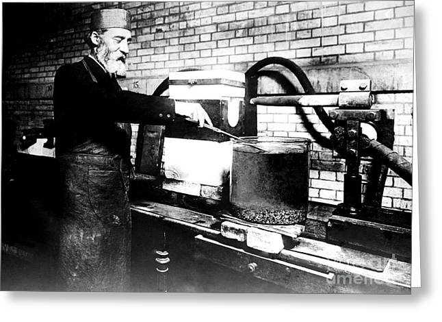 Arc Furnace Greeting Cards - Henri Moissan, French Chemist Greeting Card by Science Source