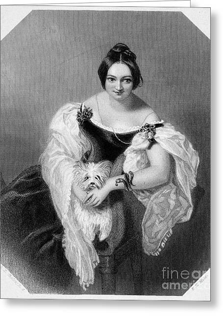 Decolletage Greeting Cards - Henrietta Sykes (1792-1846) Greeting Card by Granger