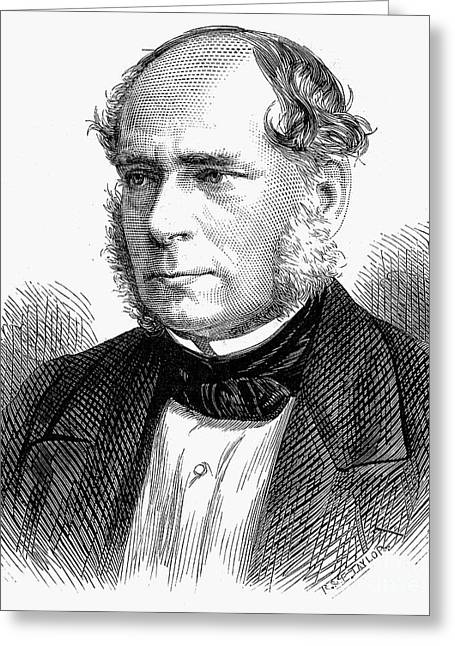 Sideburns Greeting Cards - Henry Bessemer (1813-1898) Greeting Card by Granger