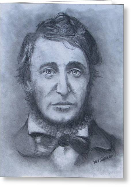 Walden Pond Greeting Cards - Henry David Thoreau Greeting Card by Jack Skinner