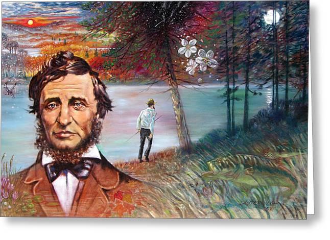 Henry David Thoreau Greeting Cards - Henry David Thoreau Greeting Card by John Lautermilch