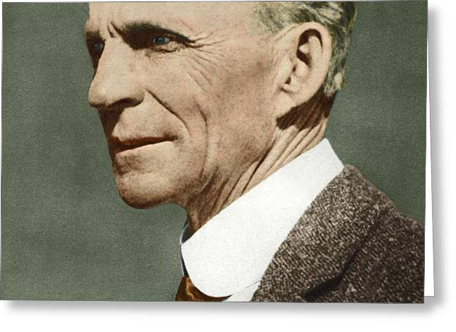 Henry Ford, Us Car Manufacturer Greeting Card by Sheila Terry
