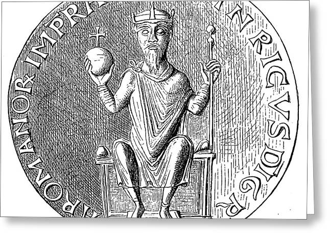 Scepter Greeting Cards - Henry Iii (1017-1056) Greeting Card by Granger