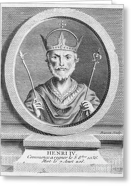 Scepter Greeting Cards - Henry Iv (1050-1106) Greeting Card by Granger