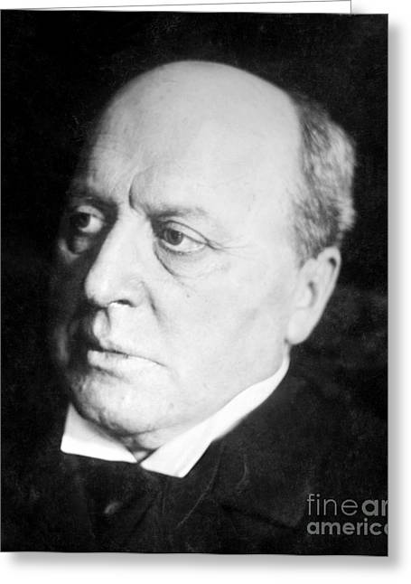 Photo-realism Greeting Cards - Henry James, American-born British Greeting Card by Photo Researchers