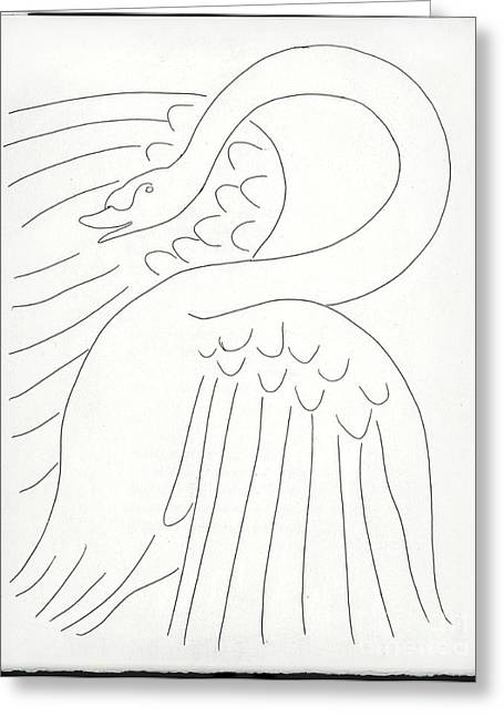 Matisse Greeting Cards - Henry Matisse Swan Greeting Card by Pg Reproductions