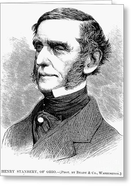 Sideburns Greeting Cards - Henry Stanbery (1803-1881) Greeting Card by Granger