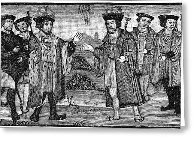 Francis Greeting Cards - Henry Viii & Francis I Greeting Card by Granger