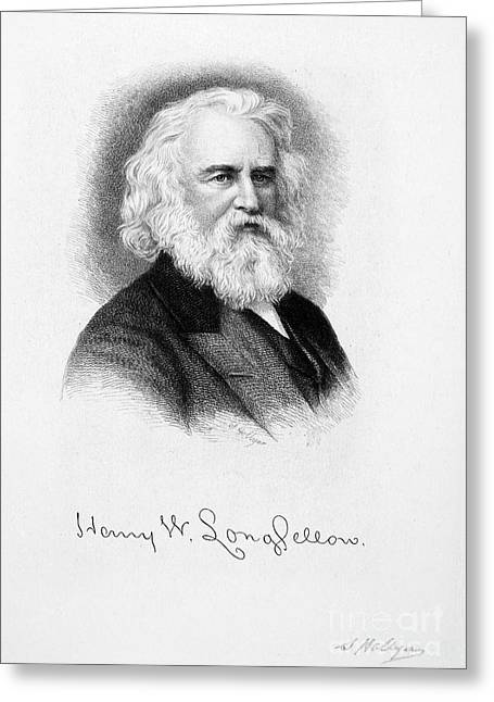 Autograph Greeting Cards - Henry Wadsworth Longfellow   Greeting Card by Granger