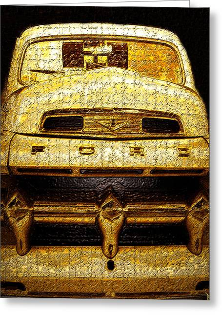 Henrys Ford Truck Greeting Card by David Lee Thompson