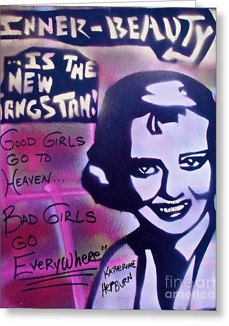 Hepburn Gangstah Greeting Card by Tony B Conscious