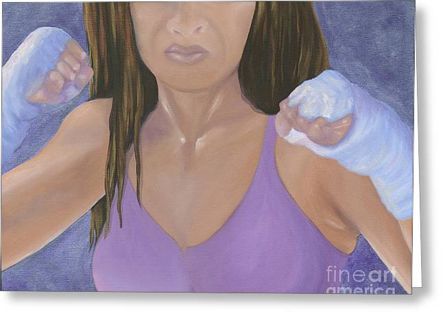 Recently Sold -  - Warrior Goddess Greeting Cards - Her Fight Greeting Card by Karen Feiling