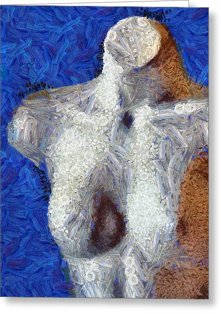 Chest Mixed Media Greeting Cards - Her Figure 2 Greeting Card by Angelina Vick