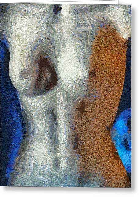 Chest Mixed Media Greeting Cards - Her Figure 3 Greeting Card by Angelina Vick