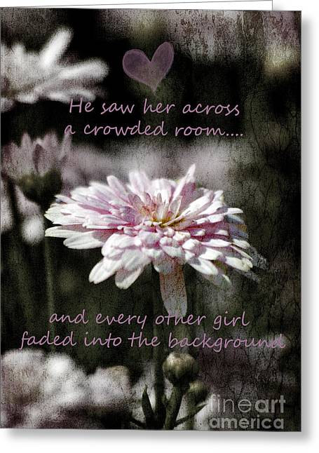 Saw Greeting Cards - Her Saw her across a crowded room Greeting Card by Karen Lewis
