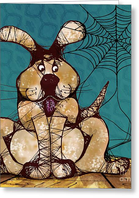Her Woven Web Greeting Card by Laura Brightwood