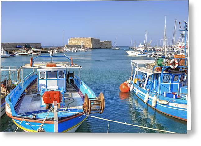 Heraklion - Venetian fortress - Crete Greeting Card by Joana Kruse