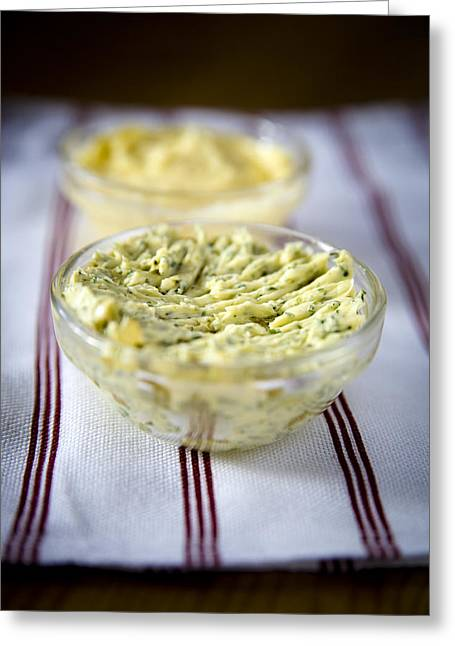 Herb Greeting Cards - Herb butter Greeting Card by Frank Tschakert