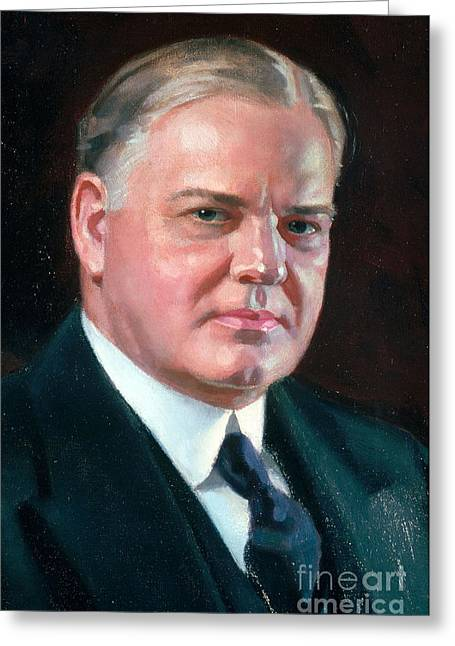 Herbert Hoover Greeting Cards - Herbert Hoover, 31st American President Greeting Card by Photo Researchers