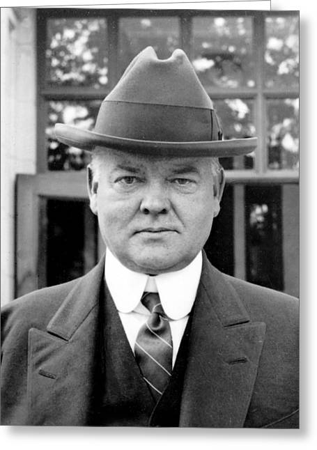 American Politician Greeting Cards - Herbert Hoover Greeting Card by International  Images