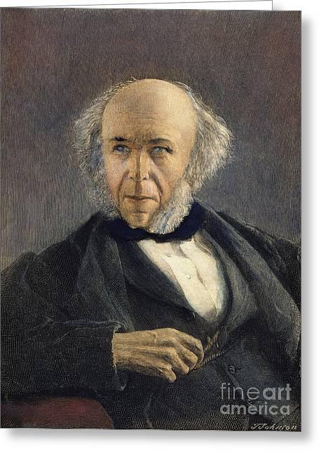 Sideburns Greeting Cards - Herbert Spencer (1820-1903) Greeting Card by Granger