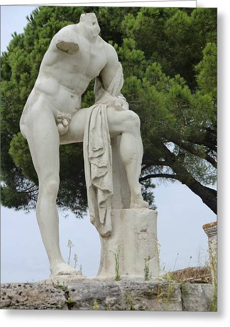 Greek Sculpture Greeting Cards - Hercules at Ostia Antica Greeting Card by Mindy Newman