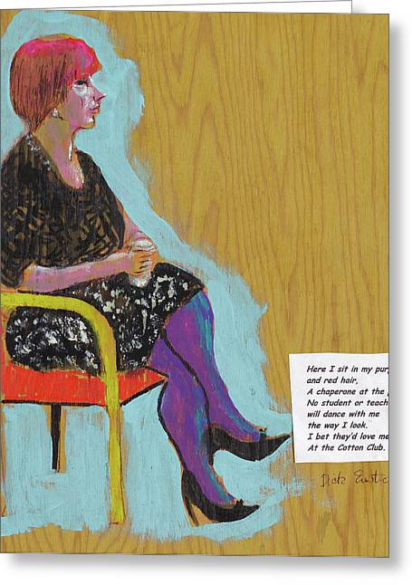 Chaperone Greeting Cards - Here I Sit Greeting Card by Dick Eustice
