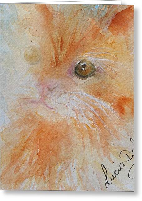 Here Kitty Greeting Card by Lucia Del