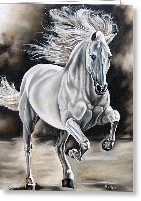 Horses Greeting Cards - Hereje Greeting Card by Ilse Kleyn
