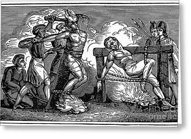 Discrimination Greeting Cards - HERESY: TORTURE, c1550 Greeting Card by Granger