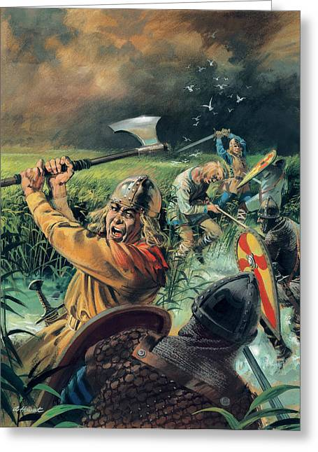 Bog Greeting Cards - Hereward the Wake Greeting Card by Andrew Howat