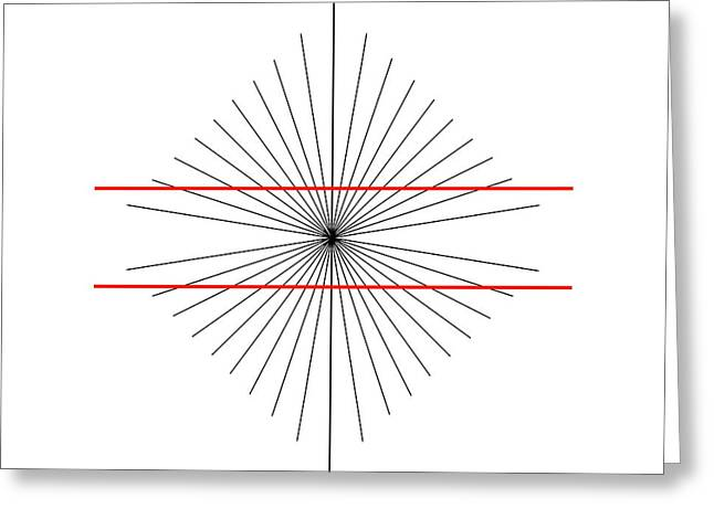 Psychology Photographs Greeting Cards - Hering Illusion Greeting Card by