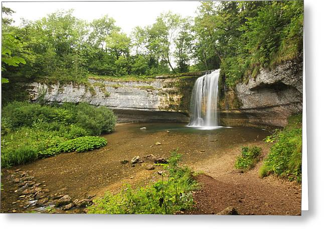 Eventail Greeting Cards - Herisson waterfalls Greeting Card by Mircea Costina Photography