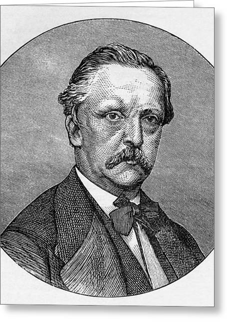Hermann Greeting Cards - Hermann Helmholtz, German Physicist Greeting Card by