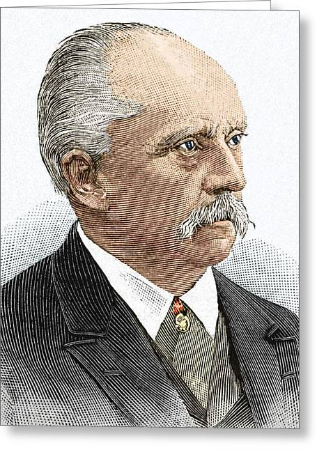 Hermann Greeting Cards - Hermann Helmholtz, German Physicist Greeting Card by Sheila Terry