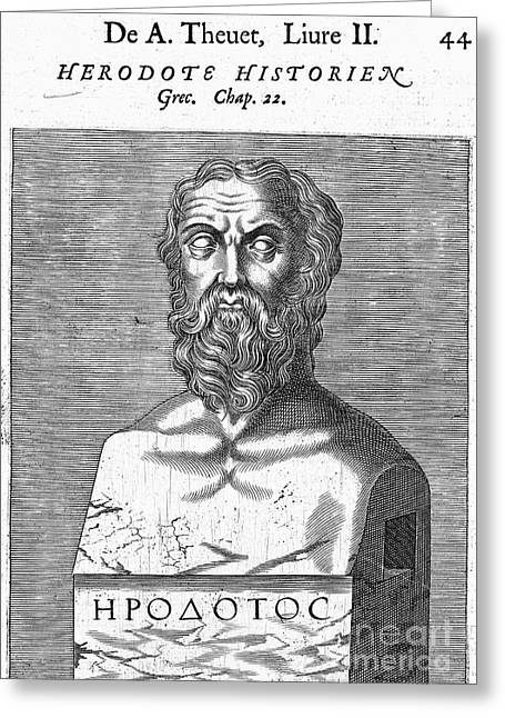 Statue Portrait Photographs Greeting Cards - Herodotus Greeting Card by Granger