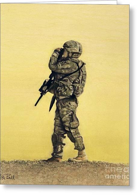 Heroes Pastels Greeting Cards - Heroes of the 82nd Airborne Greeting Card by Lisa Bell