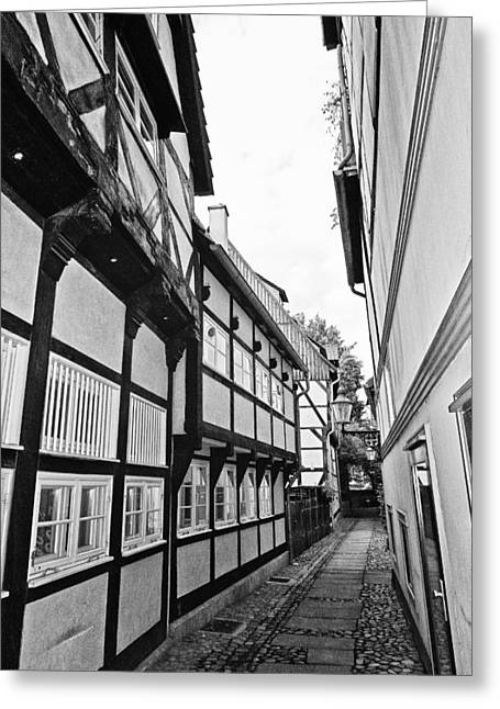 Buildings And Narrow Lanes Greeting Cards - Herrendorftwete Greeting Card by Benjamin Matthijs