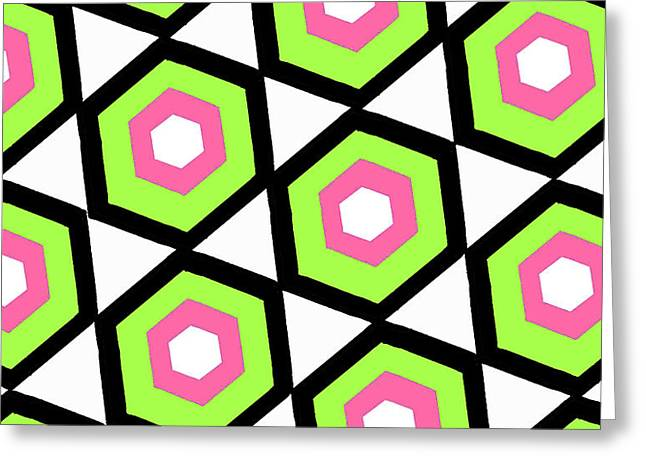 Hexagon Greeting Card by Louisa Knight